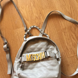 Moschino szürke steppelt backpack