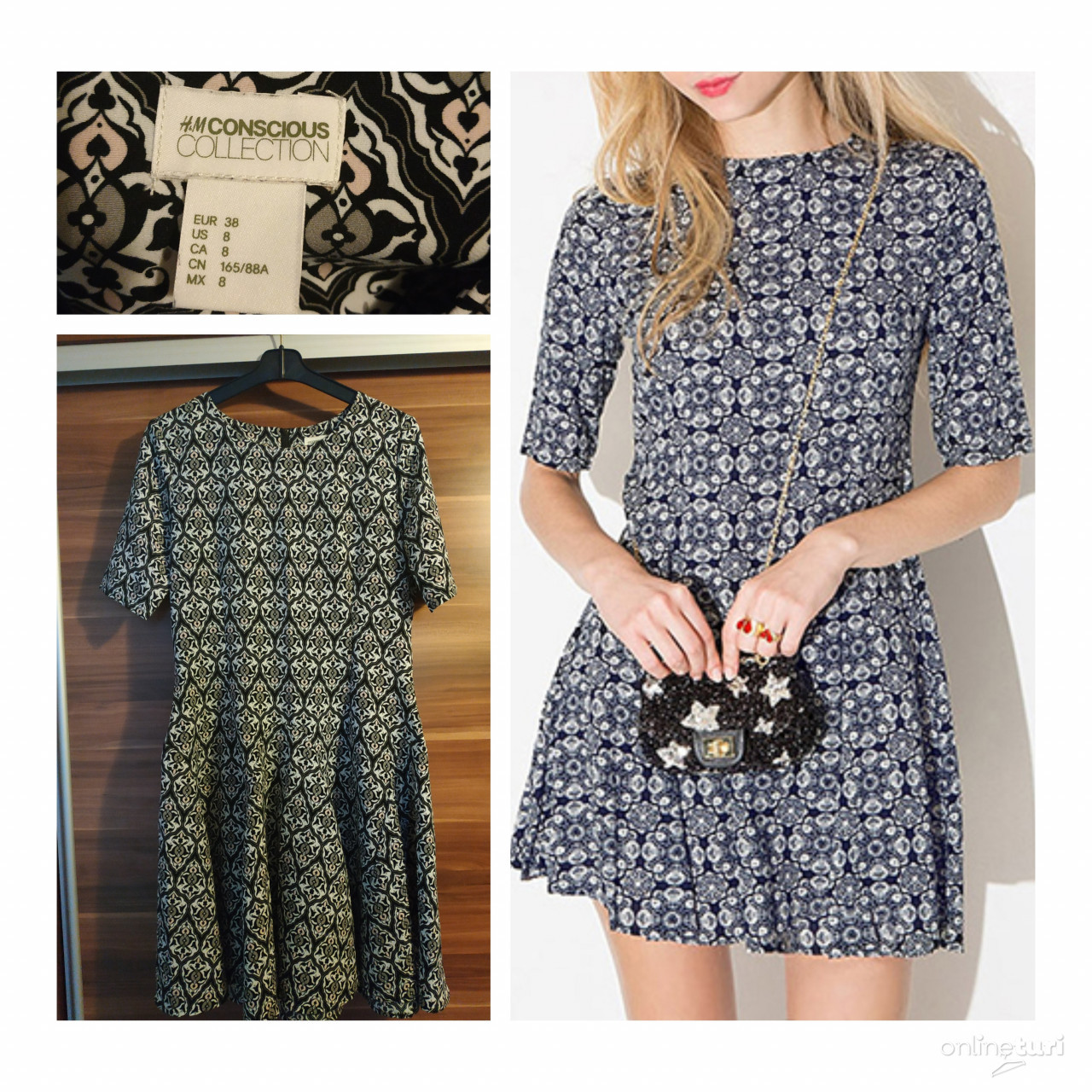 ef31676f2a H&M jacquard stílusú mintás ruha, Kaposvár - OnlineTuri